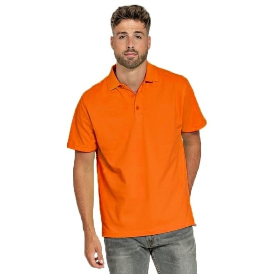 Polo shirt oranje voor heren
