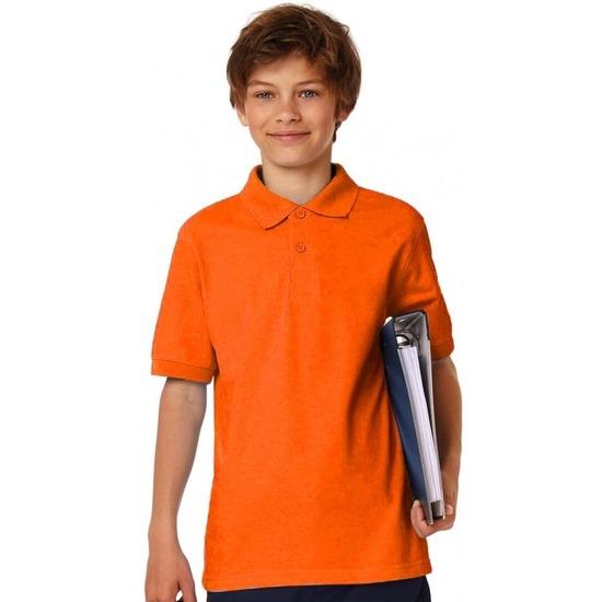 Polo shirt oranje voor jongens