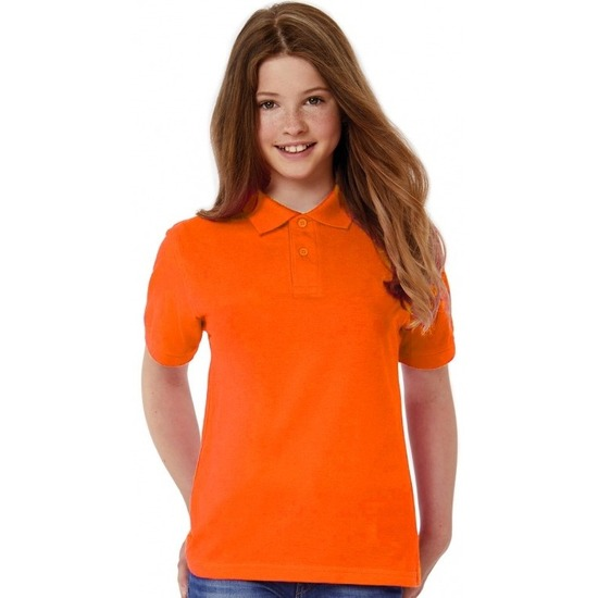 Polo shirt oranje voor meisjes