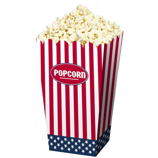 Popcorn bakjes USA 24 stuks