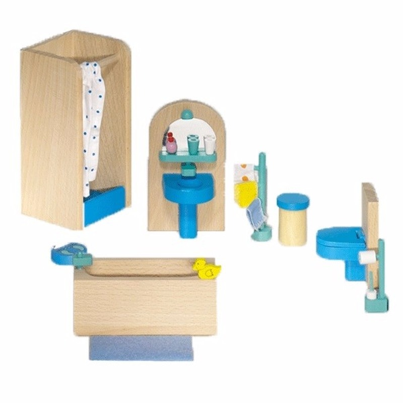 Poppenhuismeubeltjes moderne badkamer