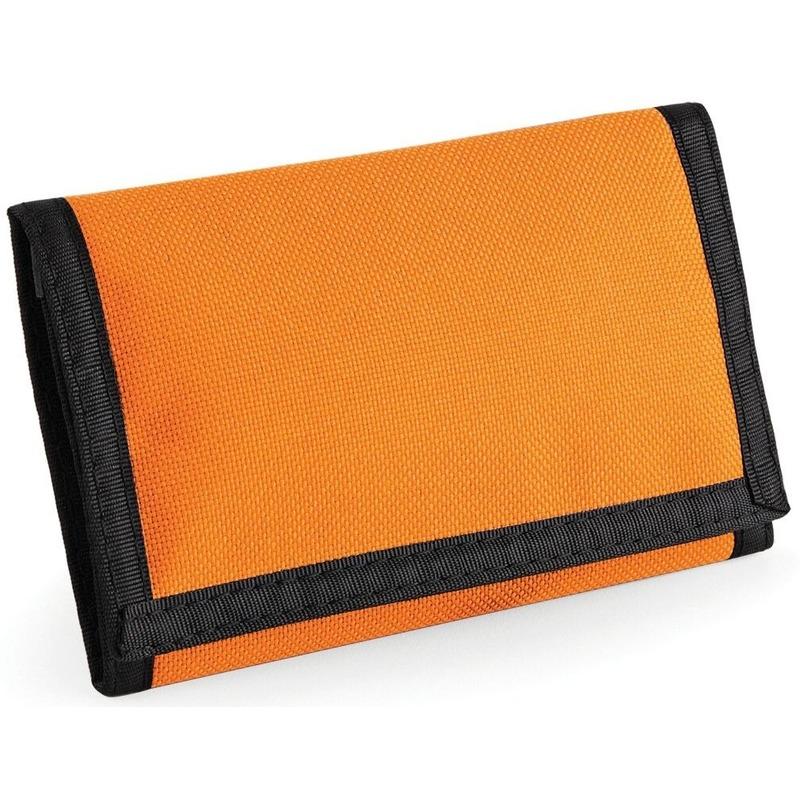 Portemonnee/portefeuille oranje 13 cm