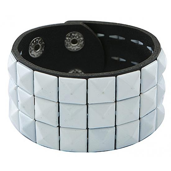 Punk armband wit