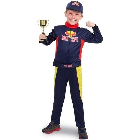 Race/Formule 1 kostuum met beker voor jongens