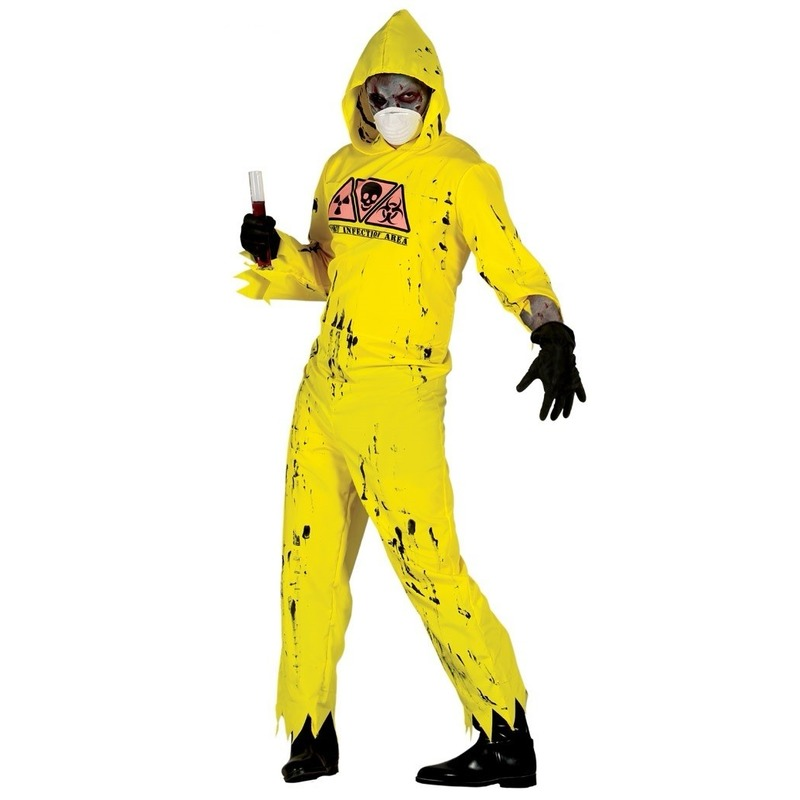 Radioactieve zombie kostuum voor heren