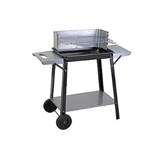 Rechthoekige barbecue/BBQ met wielen