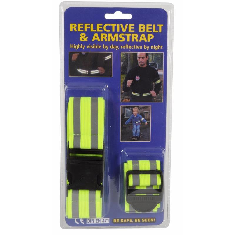 Reflecterende riem en armband set