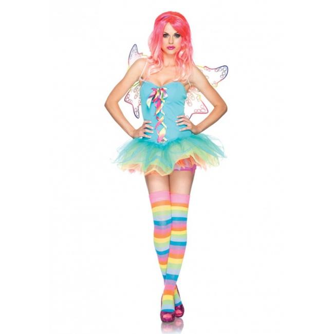 Regenboog fee kostuum voor dames