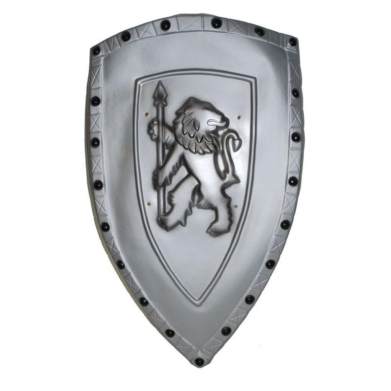 Ridder schild zilver met leeuw