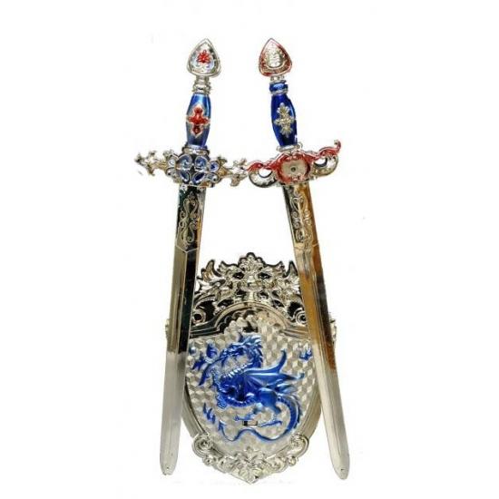 Ridderset 3-delig blauw zilver