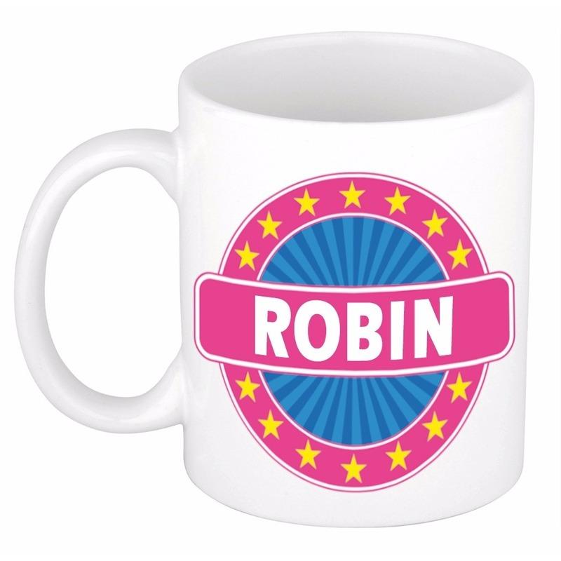 Robin naam koffie mok-beker 300 ml