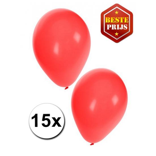 Rode ballonnen 15 stuks
