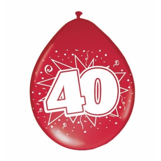Rode ballonnen 40 jaar jubileum