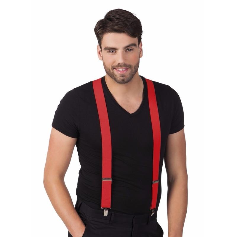 Rode bretels voor volwassenen