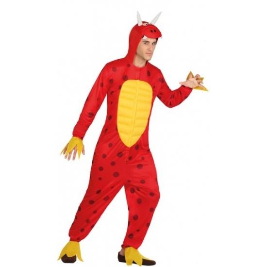 Rode draak kostuum voor heren