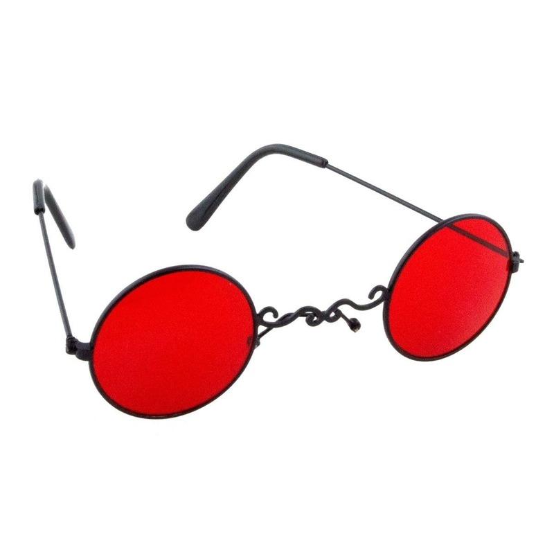 Rode dracula-vampier party bril voor volwassenen