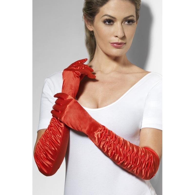 Rode handschoenen 46 cm