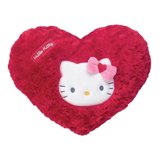 Rode hartjes kussen Hello Kitty