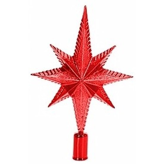 Rode piek ster vorm 25 cm