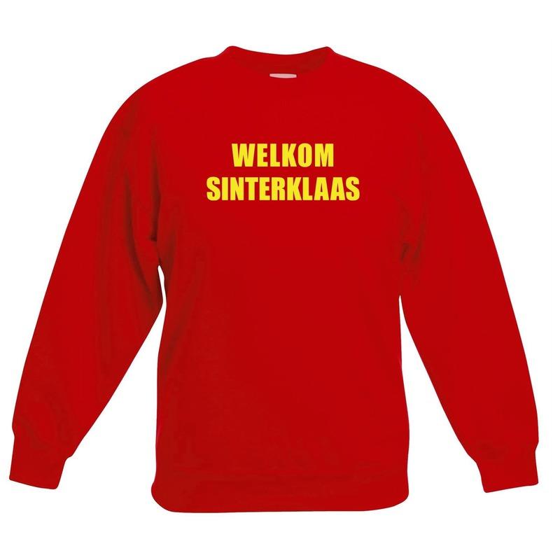 Rode Sinterklaas trui / sweater Welkom Sinterklaas voor kinderen