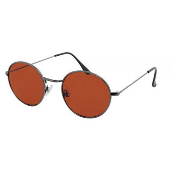 Ronde zonnebril metaal bruin
