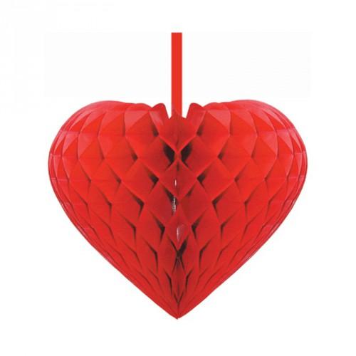 Rood decoratie hart 15 cm