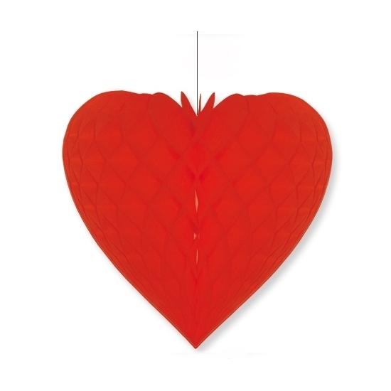 Rood decoratie hart 28 cm