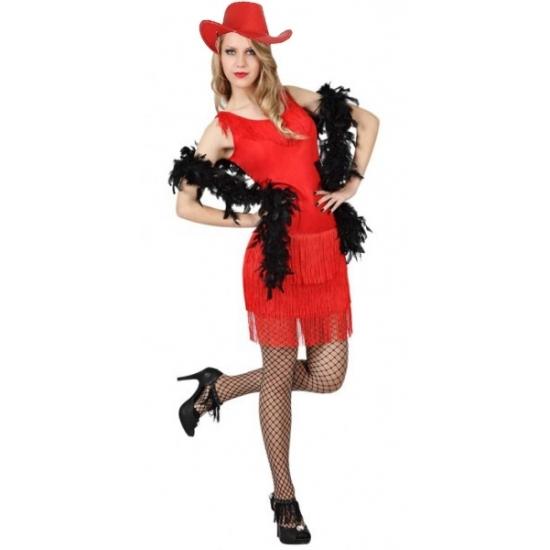 Rood feestjurkje voor dames