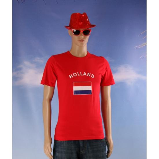 Rood heren t-shirt Holland