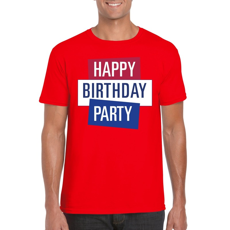 Rood Toppers Happy Birthday party heren t-shirt officieel