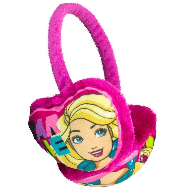 Roze Barbie oorwarmers voor meisjes