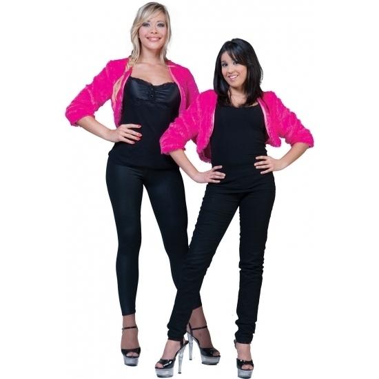 Roze bolero bontjasje voor dames