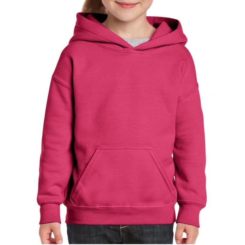 Roze capuchon sweater voor meisjes