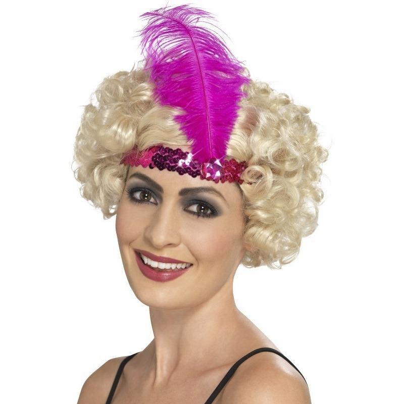 Roze Charleston hoofdband voor dames