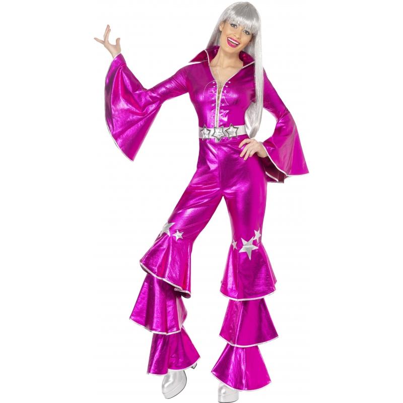 Roze Dancing Queen kostuum 70s