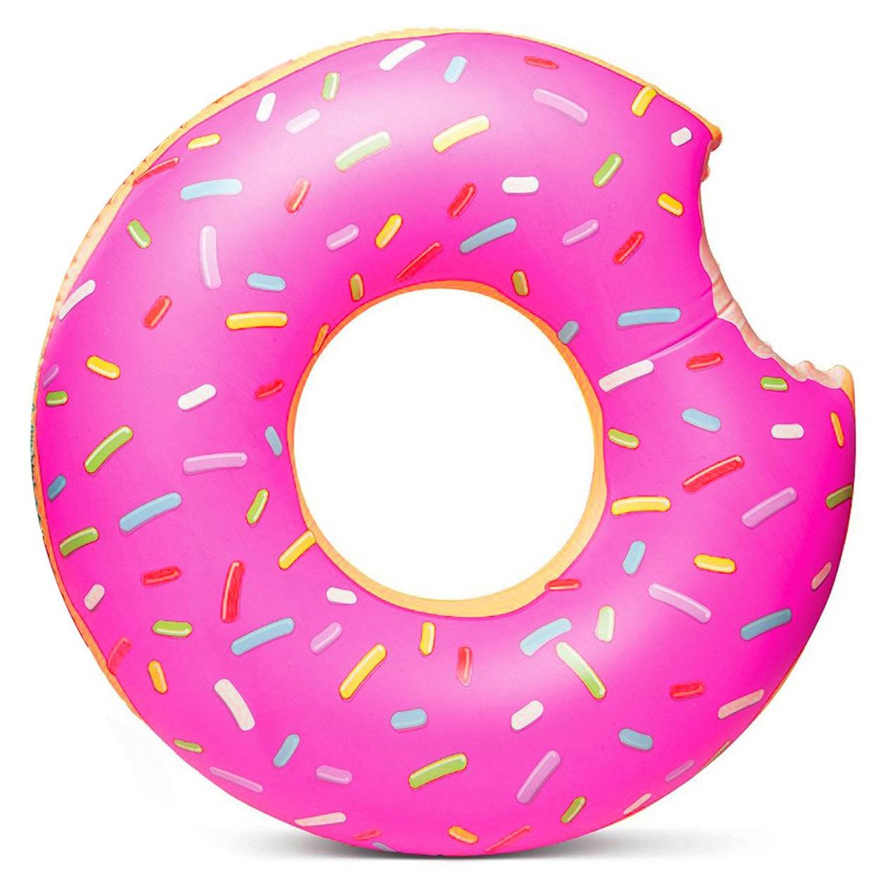 Roze donut zwemband 119 cm