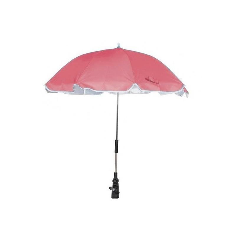 Roze parasol voor stoel of kinderwagen 100 cm