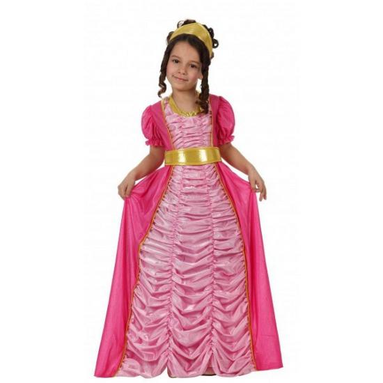 Roze prinsessen jurk voor kinderen