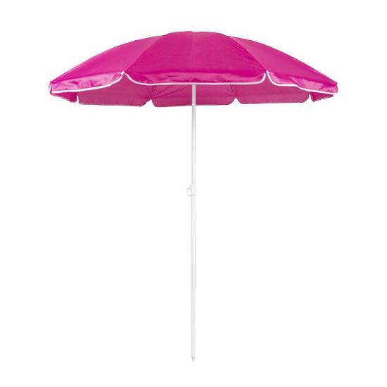 Roze strand parasol van nylon 150 cm