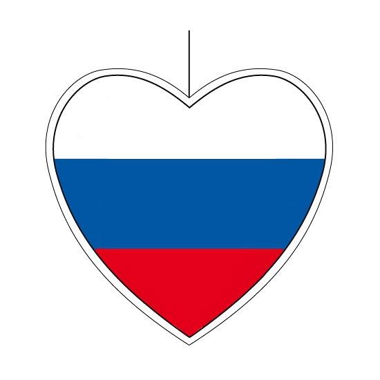 Rusland hangdecoratie hart 28 cm