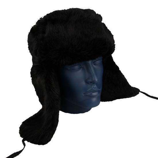 Russische bontmuts zwart
