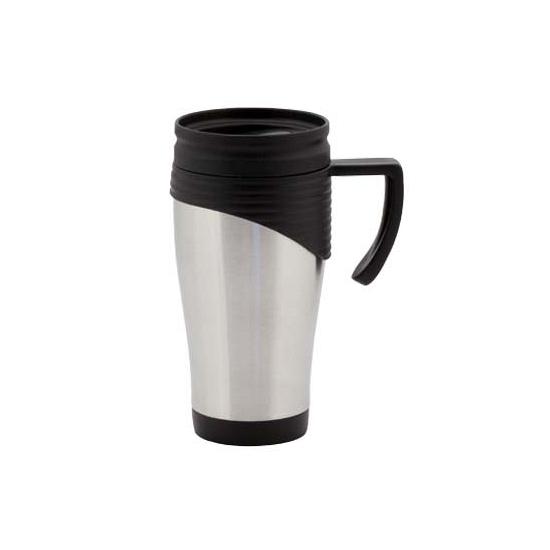 RVS Thermosbeker-warm houd beker zwart 400 ml