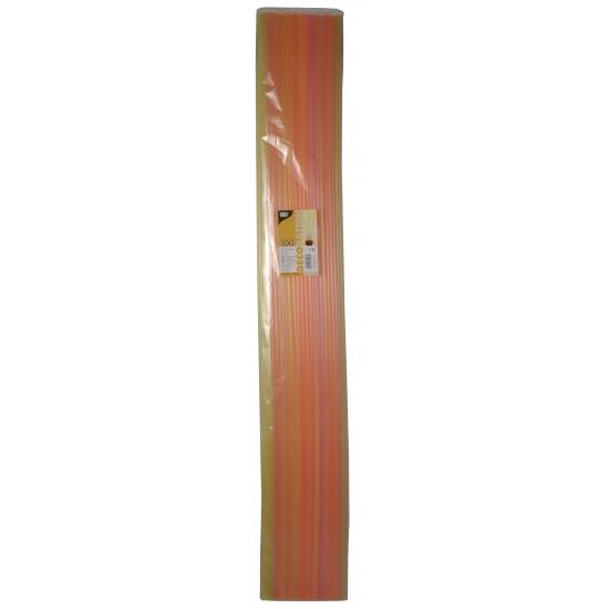 Sangria rietjes neon kleuren lang 100 cm