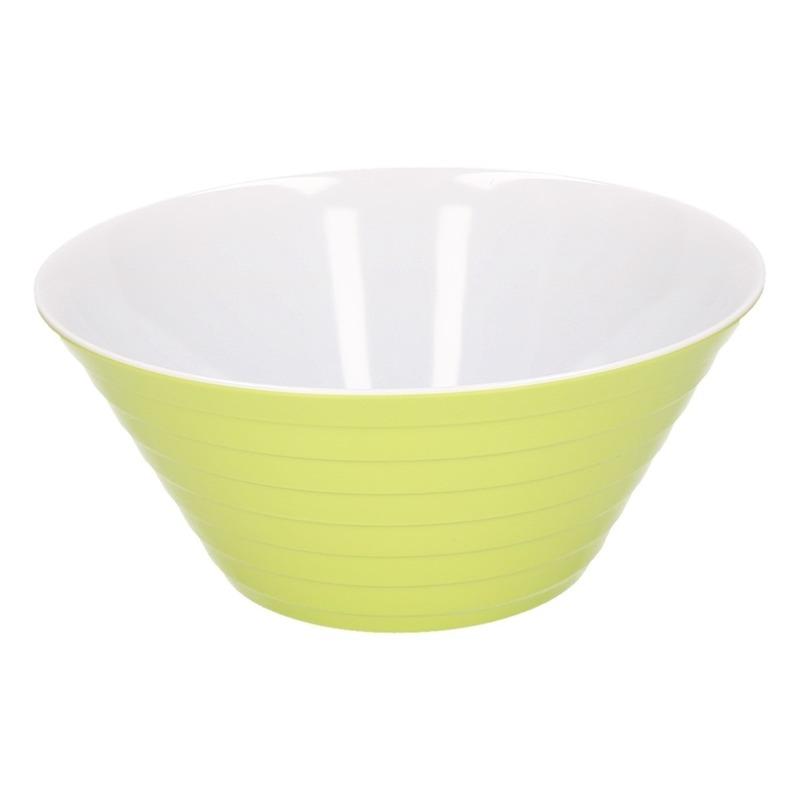Schaal melamine groen 27 cm