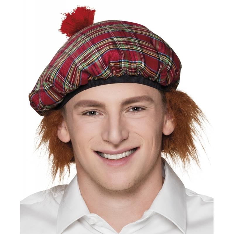 Schotse pet rood met haar
