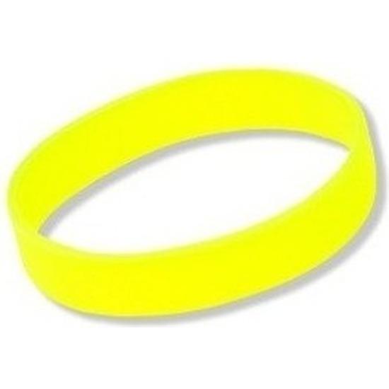 Siliconen armband neon geel