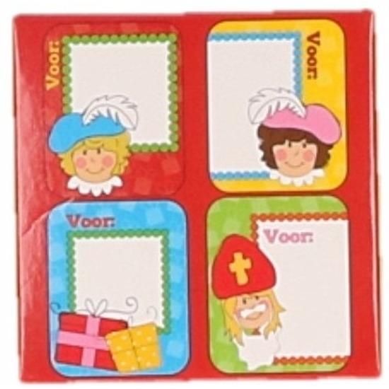 Sint kado stickers 50 stuks