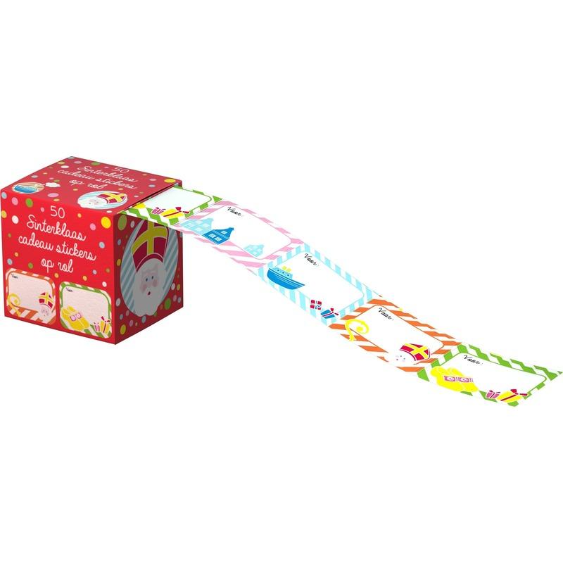 Sinterklaas cadeau stickers 50 stuks