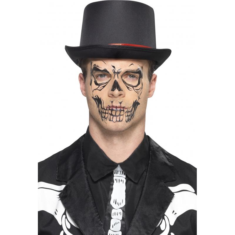 Skelet gezicht tattoo