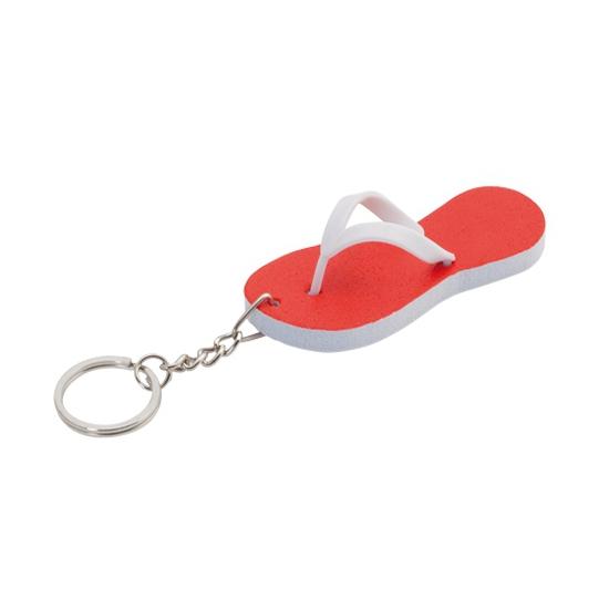 Sleutelhanger rode teenslipper 8 cm